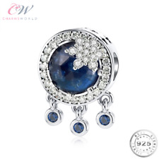Snowflake Dreamcatcher Charm Genuine 925 Sterling Silver & Blue CZ 💞 Gift