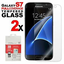 2X Full Cover Transparent Tempered Glass Screen Protector For SAMSUNG GALAXY S7