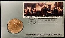 US 1976 Bicentennial First Day Cover, Medal And Token