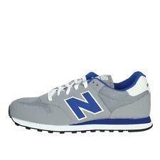 Sneakers New balance bassa Pelle/nylon Uomo Grigio Gm500trs