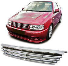 ALL CHROME DEBADGED SPORTS BONNET GRILL FOR VW POLO 6N 10/1994 - 09/1999