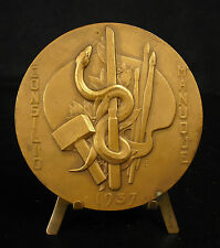 Médaille PROFESSEUR RAYMOND GREGOIRE par Ch Pillet Consilio Manuque 220g  Medal