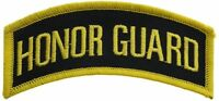 Honor Guard Shoulder Tab Navy and Gold 4 inch Patch F1D5D