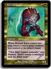 1 FOIL Horned Kavu - Gold Planeshift Mtg Magic Common 1x x1