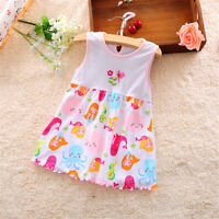 Infant Baby Girl Dress Cotton Regular Sleeveless Dresses Casual Clothing 0-24 BR