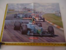 MICHAEL TURNER ARTWORK 1990 PHILIPS CAR STEREO AUTOSPORT POSTER *READ ALL*