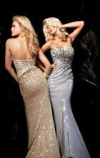 85% off Prom Long Dress Tony Bowls 113722 Color: Silver Size: 4