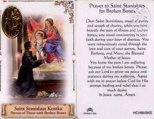 Broken Bones and Pain Prayer Saint Stanislaus Card Catholic Laminated HCH80SKE