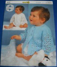 Sirdar Baby Children's matinee Coat & Angel Top Crochet Pattern 3424