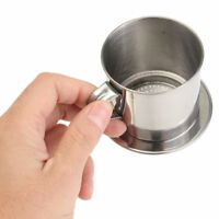 HOT Stainless Steel Vietnamese Coffee Drip Filter Maker Infuser Set 5.5 x 6.5cm