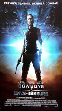 Affiche 60x160cm COWBOYS & ENVAHISSEURS /… ALIENS 2011 Daniel Craig NEUVE