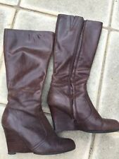 Tony Bianco Wedge Leather Boots for Women