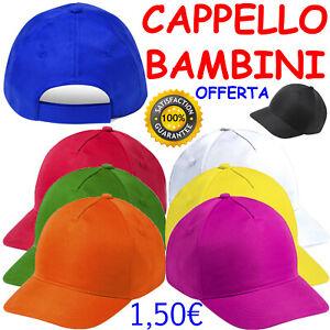 CAPPELLO per BAMBINO Cappellino BIMBI da BASEBALL Visiera PRECURVATA Golf ESTATE