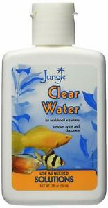 JUNGLE CLEAR WATER 2 OZ FISH AQUARIUM REMEDY. REMOVES CLOUDINESS IRON ODOR