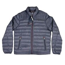 Mens TOMMY HILFIGER Packable Down Jacket Size LARGE Padded Quilted Lightweight