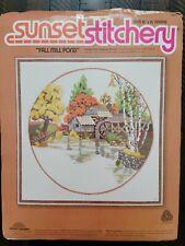 """Vintage Sunset Stichery Needlepoint Kit """"Fall Mill Pond"""""""