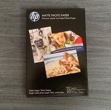 "HP Matte Photo Paper inkjet 25 Sheets 4"" x 6"" brand new in box"