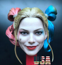 1/6 Harley Quinn Head Sculpt 2.0 Suicide Squad For Hot Toys Figure ❶IN STOCK❶