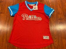 Majestic Women's Philadelphia Phillies Player's Weekend Jersey Large L MLB
