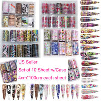 US 10 Sheets Galaxy/Marble/Flower Nail Decal Nail Art Transfer Sticker Decor