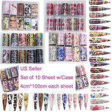 US 10 Sheets Galaxy/Marble/Flower Nail Decal Nail Art Transfer Sticker Decor