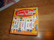 Learning Library & Floor Puzzle 8 chunky board books Mega Puzzle Interactive kid