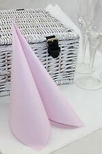 50 Mank Linclass Linen Feel Paper Napkins 40 x 40cm - Pale Pink