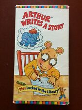 """ARTHUR'S,ARTHUR WRITES A STORY""""PLUS LOCKED IN THE LIBRARY!.VHS.1997.30 MINUTES."""