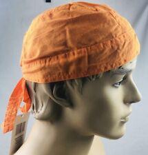 Orange Doo Rag head wrap Skull Cap Biker Durag Solid NEW