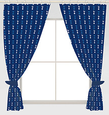 "TOTTENHAM SPURS FOOTBALL CLUB CREST CURTAINS 66""x72"" DROP POLYCOTTON READY MADE"