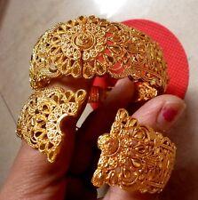 22K Gold Plated 2 Pcs Openable Best Quality Bangles Bracelet  2.4'', 2.6'',2.8''