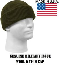 Genuine Military Issue 100%25 Wool Watch Cap Beanie Cap Made In The U.S.A.