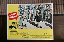 VIVA MAX Original MEXICAN ARMY WAR Lobby Card PETER USTINOV JOHN ASTIN