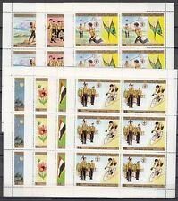 """ Yemen, Scott cat. 367-370, C56-C58. Scouting issue as sheets of 6"
