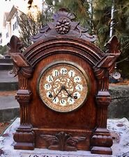 New ListingAntique Ansonia Cabinet Clock (theTrieste) Running Well