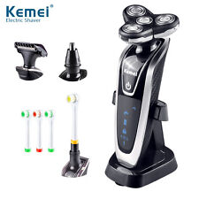 Kemei 4 in 1 Mens Rechargeable Electric Shaver Triple Blade 3D Floating Razor