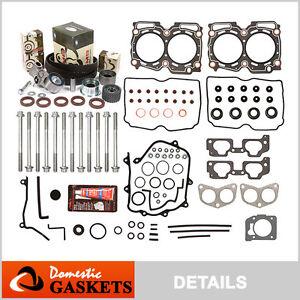 Fit 99-03 Subaru Impreza Forester 2.5L SOHC Head Gasket Bolt Set+Timing Belt Kit