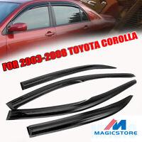 Window Visors Shade Sun Guard For Toyota Corolla 2003 2004 2005 2006 2007 2008