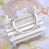 Always in My Heart Cremation Jewelry Memorial Urn Bangle Bracelet Keepsake