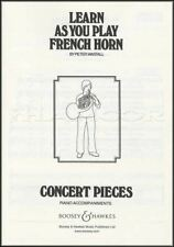 Learn as You Play French Horn Piano Accompaniment Concert Pieces Music Book