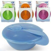 Baby Travel Feeding Bowl With Spoon Food Storage Set Toddler Kids Children