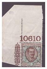 REGNO 1901  -  FLOREALE  1 LIRA    NUOVO  **  NUMERO DI TAVOLA