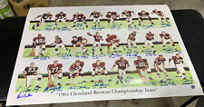 CLEVELAND BROWNS 1964 CHAMPIONSHIP TEAM 24 Players SIGNED Print - JIM BROWN -COA