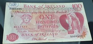 SUPER RARE PROVINCIAL BANK OF IRELAND LIMITED £100 HOLLWAY 1981 VERY FINE