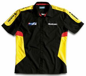 Suzuki Men's Genuine Short Sleeved Mens Team Yellow/Black Shirt