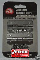 Igloo Stainless Steel Cooler Hinges 2 pk 8 SS Screws #24005 Metal Hinge