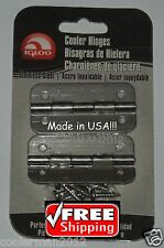 Igloo Stainless Steel Cooler Hinges 2 pk 8 SS Screws #24005 Metal Hinge