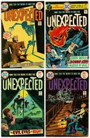 Lot Of Vintage THE UNEXPECTED #163 164 166 167 DC Bronze Age Horror Comic