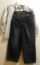 Calvin Klein Boys' 2-pc Jeans and Long Sleeved Shirt Size 6 EUC