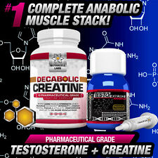 4X TESTO ANABOLIC +FREE DECABOLIC CREATINE -STRONGEST NO STEROIDS/HGH STACK